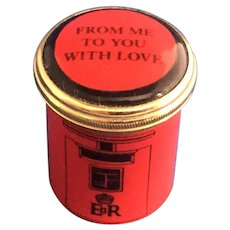 "Halcyon Days Enamel ""From Me to You With Love"" Trinket Box"