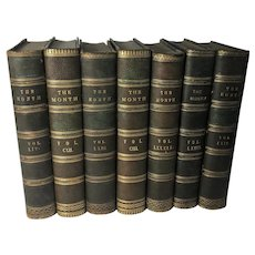 7 Volumes The Month: A Catholic Magazine and Review, 1888 - 1908