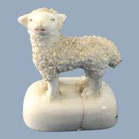 English Staffordshire Lamb Figurine