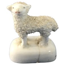 English Staffordshire Lamb Figurine