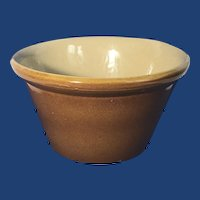 English Presons of Chesterfield Glazed Crock Bowl