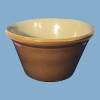 English Presons of Chesterfield Glazed Crock Bowl