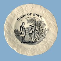 Pearlware 5 inch Dish, Bands of Hope
