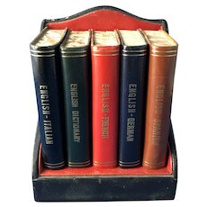 Miniature Set of Dictionaries: English, French, German, Italian, Spanish