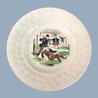 English Transfer Ware Pearlware Dish