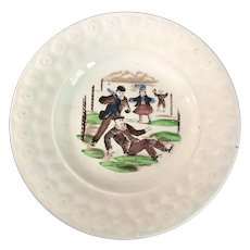 English Transfer Ware Pearlware Dish
