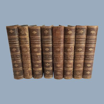 8 Volumes of Chamber's Encylopaedia, 1888