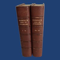 James Boswell's Life of Samuel Johnson, Leather Bound, 1859, London
