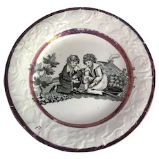 Small English Transfer Ware Children's Dish