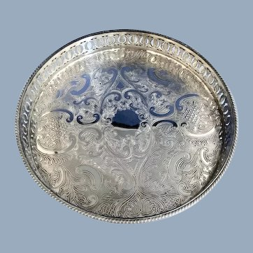 English Silver Plated Salver  C.1930