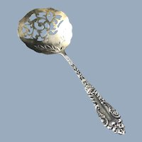 Rare Sterling Silver Tomato Spoon Pierced Bowl