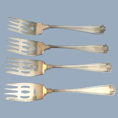 4 Greco-Roman Revival Gorham Sterling Silver Spoons