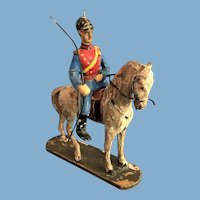 German Elastolin and Lineol Composition Toy Solider