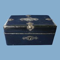 English Small Wooden Treasure Chest Bank