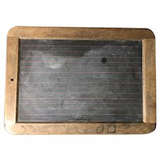 Original Vintage Slate Chalk Board