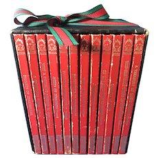 Set of 12 Hardbound Classic Books in an Original Case
