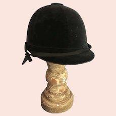 Vintage Velvet English Riding Hat Helmet Cap