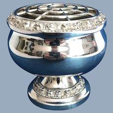 English Silver Plate Rose Bowl.  C. 1950