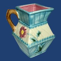 Beautiful Floral Design Square Topped Pitcher