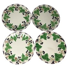 Set of Four Blue Ridge Southern Pottery Salad Plates
