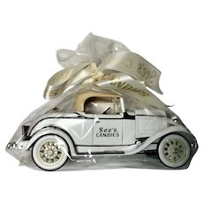 See's Candies Ford Model Care White 1930 Roadster ERTL Collectibles