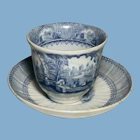 Blue and White English Transfer Ware, C.1860