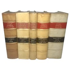 Set of 5 English Law Books