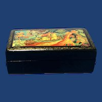 Russian Lacquer Box, Signed Hand Painted from the Village мстера (Mstera)