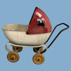 Vintage Toy Metal Doll Stroller, C.1930-1940