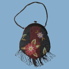 English Beaded Bag. C. 1920