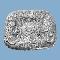 English Sterling Silver 1890 Pin Tray