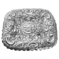 English Sterling Silver 1890 Pin Tray