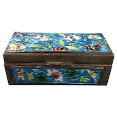 C.1900 Chinese Cloisonne Stamp Box
