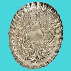 1901 English Sterling Silver Pin Tray