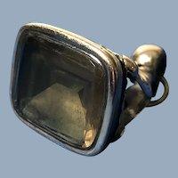 C.1890  English Gold Fill Topaz Watch Fob