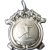 English Sterling Silver Medal Fob, Pendent, 1964