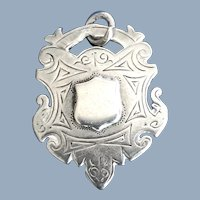 English Sterling Silver Double Sided Award Medal