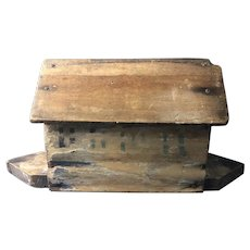 Vintage Wood Flat Bottom Noah's Ark/Animals
