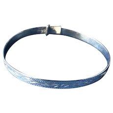 English Sterling Silver Christening Bracelet