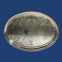 English Silver Plated Serving Tray.  C.1930
