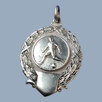 English Sterling Silver Soccer Player's Medal