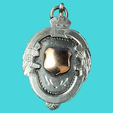 English Sterling Silver  Watch Fob. 1923