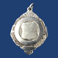 C. 1860 English Sterling Silver Award/Fob