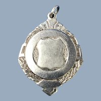 C. 1860 English Sterling Silver Award/Fob