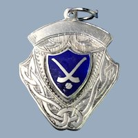 English Sterling Silver Lacrosse Award Medal