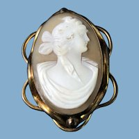 English Shell Cameo, 1890
