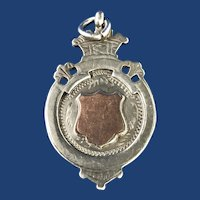 English Sterling Silver Crown Barber Cup Watch Fob. 1944