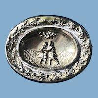 English Silver Friendship Brooch 1900
