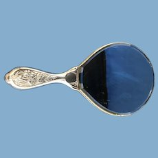 Victorian Sterling Silver Hand-Held Mirror, 1901