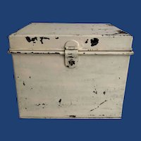 English Painted Tin Document Box